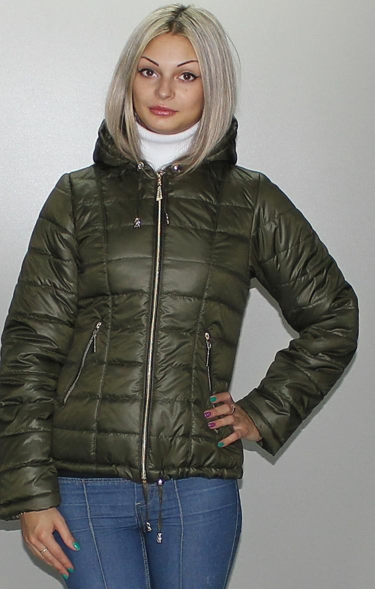 Приталенная короткая женская куртка, размеры 40-72