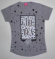 Туника-футболка для девочки (пайетки перевертыш) 8, 9, 10, 11, 12 лет
