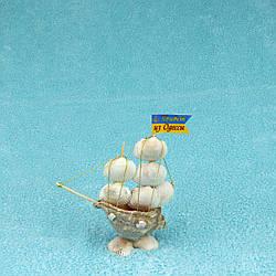 Корабль из ракушек №231 (Высота:14-15см)