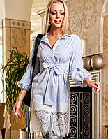 Женское платье-туника с кружевом по низу (Клозиjd)