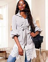 Женское платье-туника с кружевом по низу (Клозиjd), фото 2