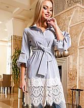 Женское платье-туника с кружевом по низу (Клозиjd), фото 3