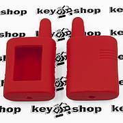 Чехол (красный) для брелка сигнализации Scher-Khan Magicar A;B