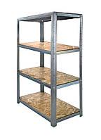 Стеллаж металлический для склада 1500*700*310 с полками из OSB-плиты