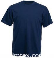 Футболка мужская цветная для сублимации, термоперенос (флекс-пленка), размер L, цвет синий