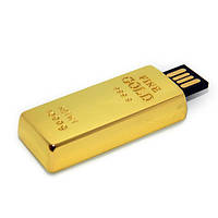 Флешка 8 Gb металл Слиток золота