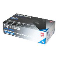 Перчатки нитриловые черные,  Ampri Style  Black, 100 шт  / уп  ( размер XS / S / M / L ), фото 1