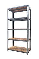 Металлический стеллаж 2000*1250*500 с полками из OSB плиты для склада, хозяйства, гаража, балкона, подвала