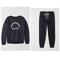 Женский темно-синий спортивный костюм популярного американского бренда Abercrombie & Fitch