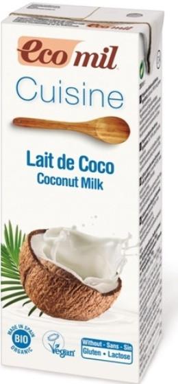 Органические растительные сливки с кокоса 200мл, Ecomil