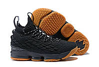 Кроссовки Nike LeBron XV 15 Black Gum Bottom Tan, фото 1