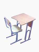 Одноместный регулируемый комплект ученической мебели для начальной школы (стол + стул)