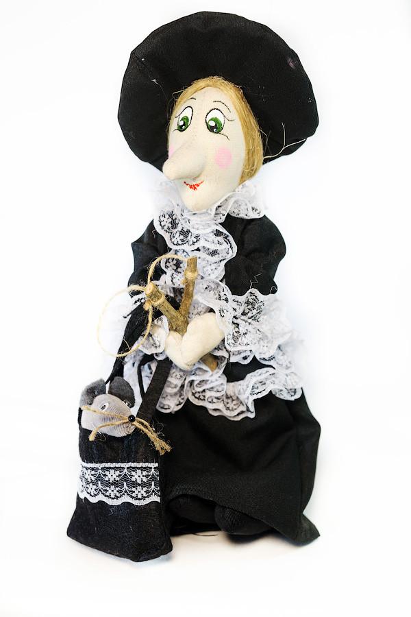 Интерьерная Кукла  Vikamade Шапокляк малая . Размер 20-25 см