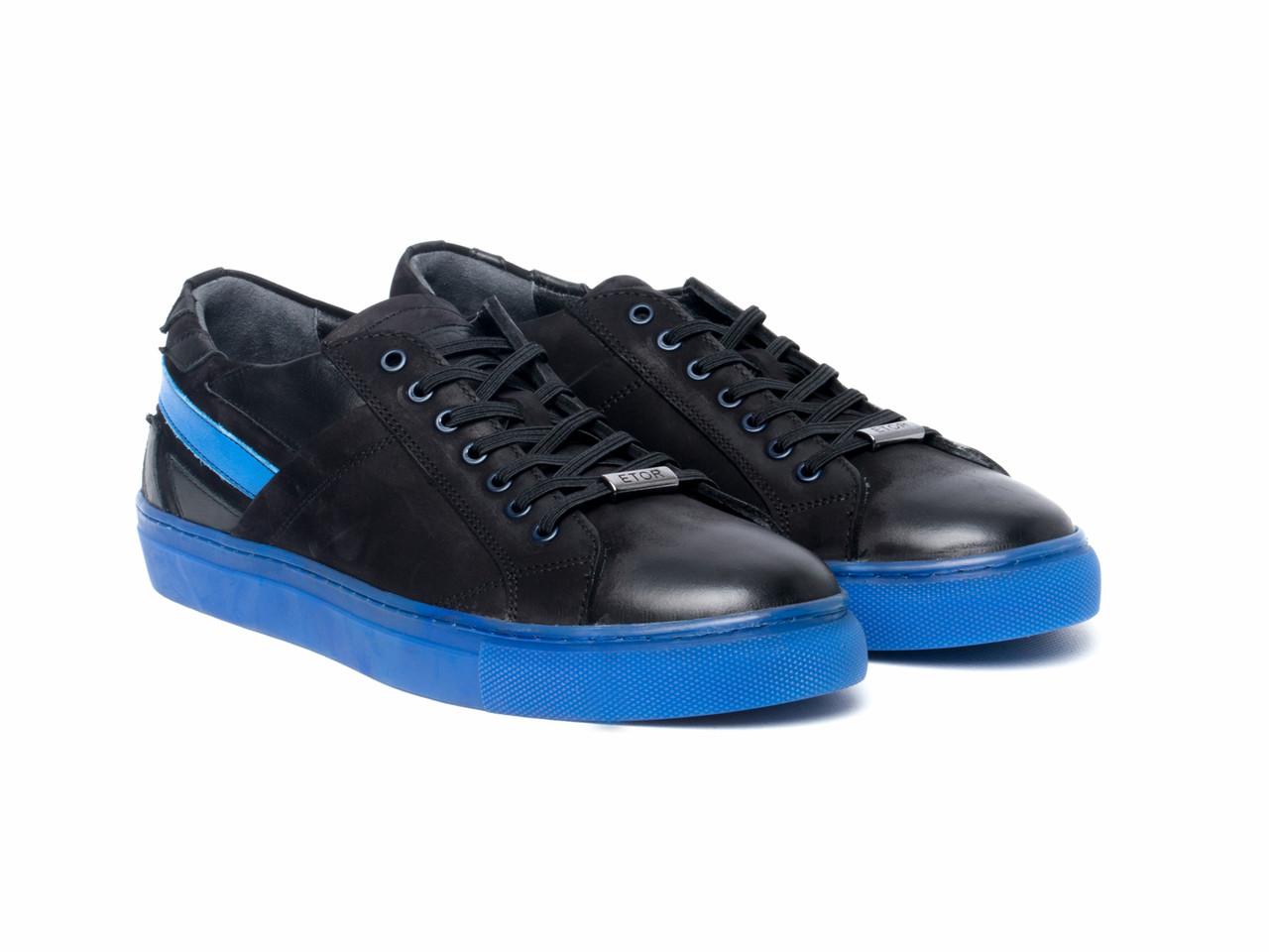Кеды Etor 8536-6551-013 43 черно-синие