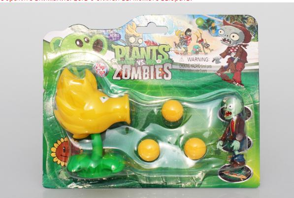Игрушка Растения против зомби Огненный горохострел Фирменная упаковка Plants vs zombies