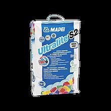 Высококачественный и высокоэластичный цементный клей для плитки и мозаики   Ultralite S2 .15 кг(серый)