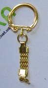 Фурнітура - основа для брелока - помпона, прикріплена до помпону(колір: бронза, золото або срібло)