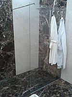 Стеклянная перегородка в душ (глухая)