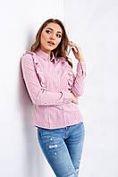 Красивая женская блуза с рюшами