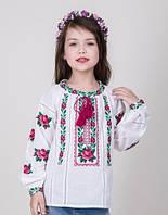 Вышиванка  для девочки с розами, фото 1