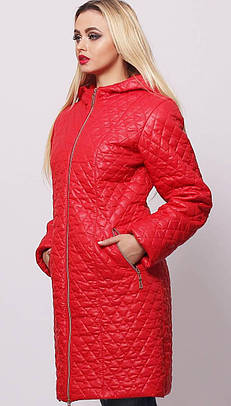 Удлиненная женская деми куртка