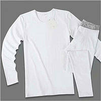 Мужское Нательное Термо Белье Calvin Klein - кофта и штаны на широкой резинке Цвет Белый M L XL