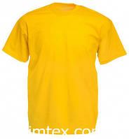 Футболка мужская цветная для сублимации, термоперенос (флекс-пленка), размер XXL, цвет желтый