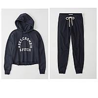 Женский темно-синий спортивный костюм популярного американского бренда Abercrombie & Fitch, фото 1