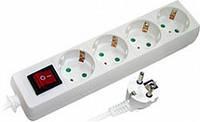 Удлинитель 4 гнезда 3м с заземлением с выключателем с защитой E.NEXT e.es.4.3.z.s.b. (s042013)