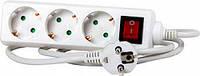 Удлинитель 3 гнезда 5м с заземлением с выключателем с защитой E.NEXT e.es.3.5.z.s.b.