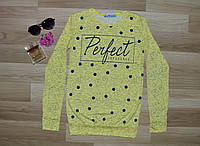 """Свитшот молодежный """"Perfect"""" - только желтый, фото 1"""