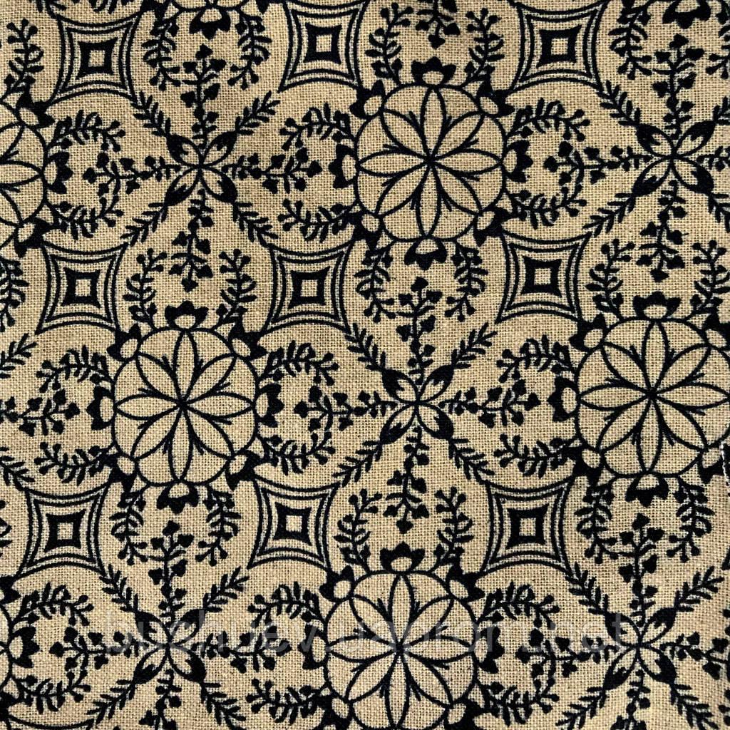 Ткань лен принтованный (3898) #1