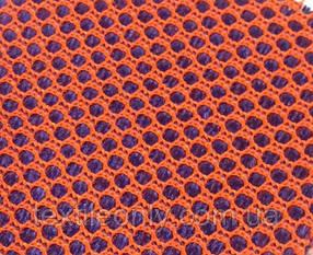 Сітка сумочно-взуттєва на поролоні артекс (airtex) подвійна колір оранж синій