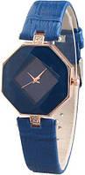 Женские кварцевые наручные часы синие