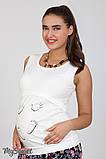 Майка для беременных CARETI NEW LS-27.091 молочная, фото 2