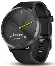 Смарт-годинник Garmin Vivomove HR Black with Black Silicone Band