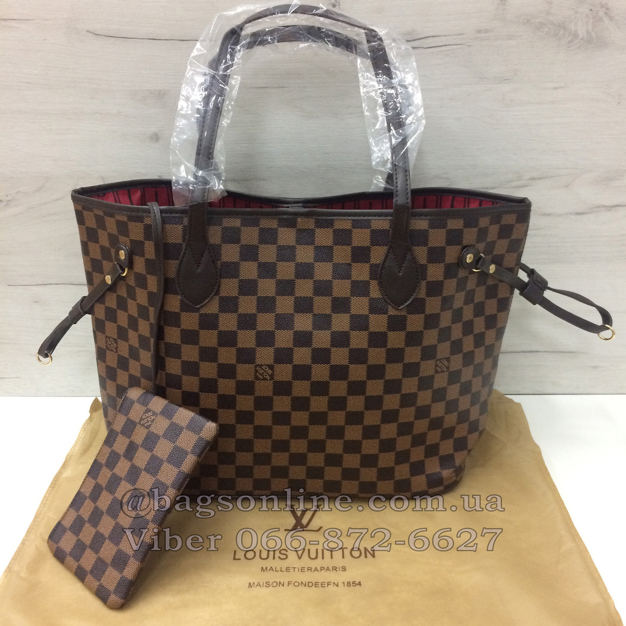 0fb94f353792 Сумка Louis Vuitton Neverfull | луи витон неверфул с косметичкой | LV ЛВ  коричневый