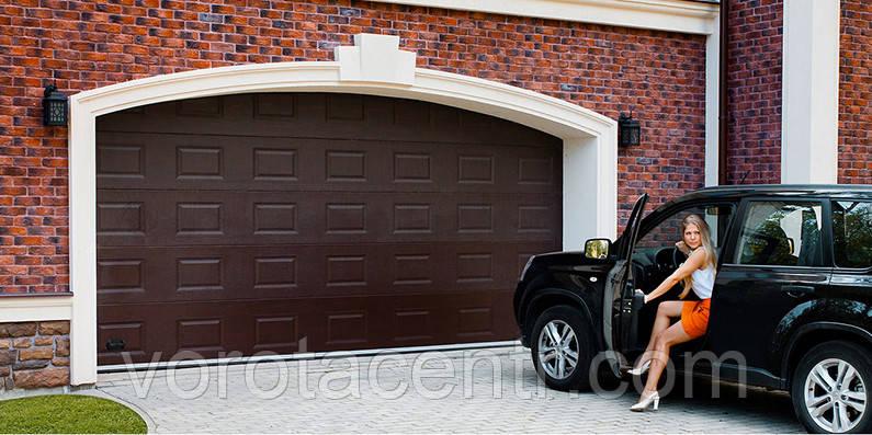 Автоматичні секційні гаражні ворота 3000х2500 RSD02 DoorHan