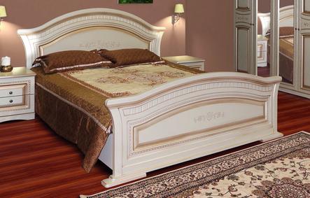 """Кровать """" Николь"""" 1,80 твердая спинка  (б/ламели). Свит Меблив"""