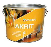 Глубокоматовая краска для стен и потолков Eskaro Akrit 4 (Эскаро Акрит 4) 9.5л