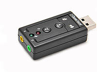 3D USB звуковая карта на 7.1 канала с регулятором