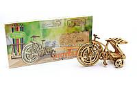 Бесплатная доставка. Деревянный механический конструктор Wood Trick Велосипед.Техника сборки - 3d пазл