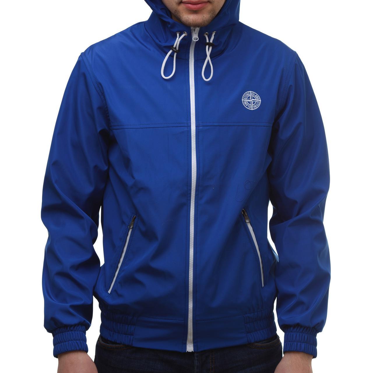 03a2f95f7a2 Ветровка в стиле Stone Island синяя - Ataman Shop — Интернет-магазин  молодежной одежды в