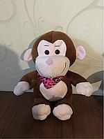 Мягкая игрушка Обезьянка 25 см, музыкальная, фото 1