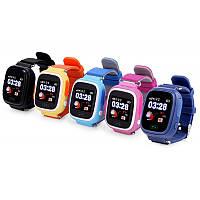 """Детские умные смарт часы Q90 Q100 Smart Baby Watch с GPS и кнопкой SOS, 1.22"""" Цветной сенсорный дисплей"""