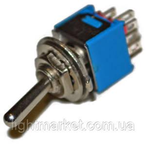 Тумблер синий 3конт. on-off-on и on-of 6А 125V, фото 2