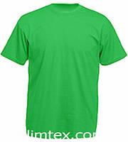 Футболка мужская цветная для сублимации, термоперенос (флекс-пленка), размер 4XL, цвет зеленый