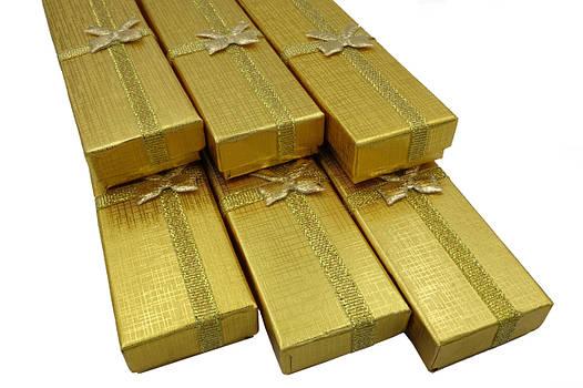 Подарочная коробочка под цепочку  золото