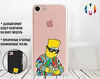 Силиконовый чехол для Apple Iphone 7 (Барт Симпсон), фото 1