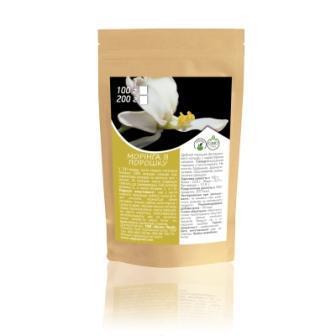 Моринга в порошке, чай из листья моринги, дой-пак 100г, Veganprod